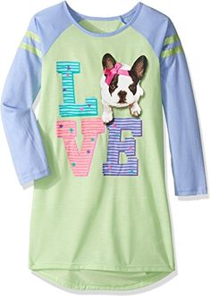Komar Kids Girls' Big Girls' Puppy Love Gown