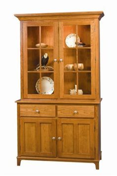 Rydal Hutch achieves shaker style furniture goals, combining simple and strong for gorgeous storage. Pine Furniture, Amish Furniture, Woodworking Furniture, Cheap Furniture, Custom Furniture, Antique Furniture, Dinning Room Cabinet, Hutch Cabinet, Dining Room