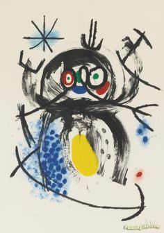 L'automobiliste A Moustaches Artwork by Joan Miró Hand-painted and Art Prints on canvas for sale,you can custom the size and frame