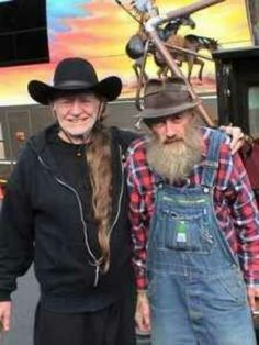 Willie and the moonshine legend the late Popcorn Sutton.