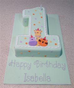 Amanda's Cakes and Invitations - Birthday Cakes number 1 cake animal faces