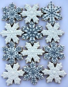 Image result for decorated christmas snowflake cookies