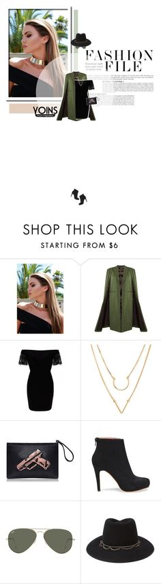 // 1025. Fashion File with Yoins. by lilymcenvy on Polyvore featuring Forever 21, Ray-Ban, Anja and yoins
