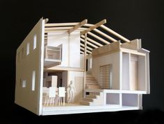 Architectural Model LHA loosely defines floor levels of mini step house in japan (model)LHA loosely defines floor levels of mini step house in japan (model) Architecture Model Making, Residential Architecture, Amazing Architecture, Interior Architecture, 3d Modelle, Arch Model, Japan Model, Miniature Houses, Model Homes