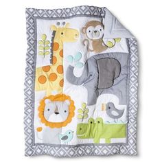Circo® Snooz 'n Safari 4pc Crib Bedding Set