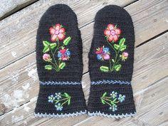 Nadelbinden / Naalbinding Handschuhe/ Glove