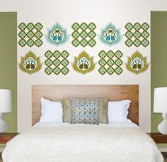 Dress up your bedroom with stylish wall decals.
