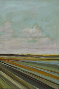 'Midday Field', 2008, tinted plaster with wax topcoat by Jeff Huckaby