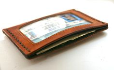 Personalized Mens ID Leather Wallet — JustJaynes - Hand Stamped Jewelry