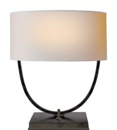 Visual Comfort TOB3180BZ-NP Thomas O'Brien Kenton Desk Lamp in Bronze with Natural Paper Shade