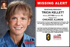 Missing From: CHICAGO, IL. Missing Date: May 1982 AM. Tricia's photo is shown age-progressed to 36 years. She was last seen playing in the street near her home. Missing Child, Missing Persons, Have You Seen, Did You Know, Missing And Exploited Children, Criminology, Cold Case, Kids Poster, Encouragement