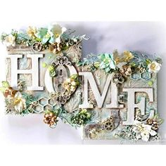 "Full Square Drill DIY Diamond Painting ""Home Flower Text"" Embroidery Decor Flower Text, Flower Frame, Altered Canvas, Altered Art, Mixed Media Canvas, Mixed Media Art, Fabric Softener Sheets, Cross Paintings, Home And Deco"