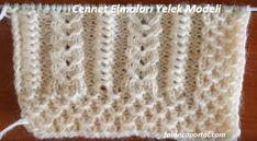 yelek modellerinde bu güzel modeli kullanabilirsiniz. Angora yün ipin çok yakıştığı, ağır yelek modellerinden biri.  Cennet Elmaları Yelek Knitting Videos, Knitting Stitches, Knitting Patterns, Diy And Crafts, Fashion, Tricot, Knitting Needles, Crochet Edgings, Knits