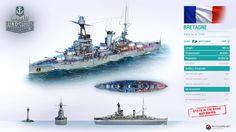 Bretagne - Class Battleship, France