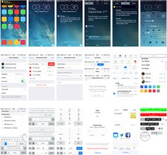 A pretty much comprehensive PSD of iOS 7 UI elements, including system screens, navigation controls, lists and lots of others.
