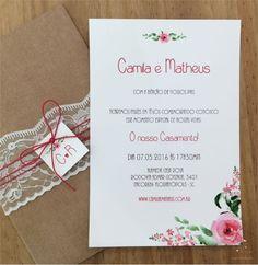 Convite de Casamento Camila