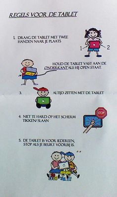 Regels voor de tablet