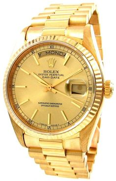cd59fd953d2 Marshall Jewelers pre owned Men s Rolex Presidential Automatic movement.  Functions include  Hours