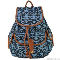 Cheap Hit Color Folk Geometry Print Canvas School Bag College Backpack For Big Sale! Lace Backpack, Rucksack Backpack, Canvas Backpack, Cute Backpacks, Girl Backpacks, School Backpacks, Fashion Bags, Fashion Backpack, Fashion Women