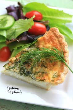 Spring Herbed Brie Quiche