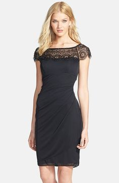 Xscape Embellished Ruched  Sheath Dress available at #Nordstrom