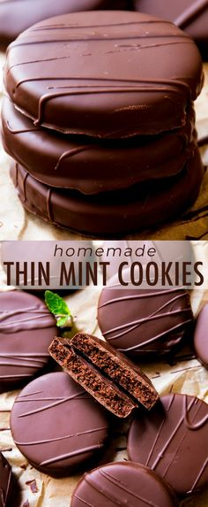 Copycat girl scout thin mints recipe with chocolate … Homemade thin mint cookies! Copycat girl scout thin mints recipe with chocolate cookies on sallysbakingaddic… Chocolate Mint Cookies, Thin Mint Cookies, Blueberry Chocolate, Chocolate Chocolate, Best Cookie Recipes, Baking Recipes, Best Dessert Recipes, Dinner Recipes, Homemade Chocolate