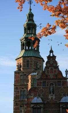 A small group of birds is seeking a royal hideaway in the tower of Rosenborg. Copyright: Rosenborg Castle / Rosenborg Slot