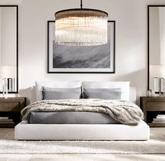 This Looks Like My Room Minus The Chandelier . Relaxed Modern In This Sleek  Yet Richly Elegant Space.
