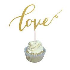 Aisila® Pack of 20 Glitter Paper Cupcake Toppers LOVE Wed... https://www.amazon.com/dp/B01ESWUAC8/ref=cm_sw_r_pi_dp_x_nQbfybMMKCB2T