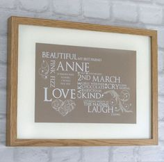 This beautifully designed birthday keepsake frame makes the perfect gift for a family member or friend! Add your special memories to make this wonderful design even more personalised.