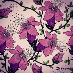 Draw of flowers