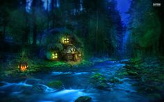 anime house in forest | small-riverside-hut-in-the-forest-24117-1920x1200.jpg