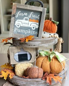 Excited to share this item from my shop: Farm Fresh Pumpkins / Tiered Tray Decor / Fall Sign / Pumpkin Sign / Pumpkin Wood Sign / Halloween Signs / Wood Signs / Fall Pumpkin Signs Wooden Pumpkins, Fall Pumpkins, Thanksgiving Decorations, Seasonal Decor, Autumn Decorations, House Decorations, Halloween Wood Signs, Tiered Stand, Fall Signs