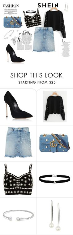 """Pearl!"" by agnesmakoni ❤ liked on Polyvore featuring Casadei, Miss Selfridge, Gucci, River Island, Amanda Rose Collection, Chanel, David Yurman, Yoko London and Whiteley"