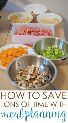 Now you can save TONS OF TIME Meal Planning! Dinnertime doesn't need to be complicated. Here's a busy mom's guide to easy meal planning to help you create delicious meals for your family every time. Family Meal Planning, Budget Meal Planning, Frugal Meals, Freezer Meals, Make Ahead Meals, Quick Meals, Cooking Recipes, Healthy Recipes, Budget Recipes