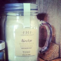 Farmhouse Fresh Nectar Whole Milk Bath Soak $28.99 98% natural and like all FarmHouse Fresh products, it is Paraben & Sulfate free. We carry it! www.facebook.com/villageherbshop