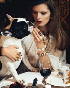 """Chic Ultime"": Malgosia Bela by Lachlan Bailey for Vogue Paris  PAMPERED"