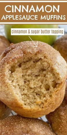 Cinnamon Applesauce Muffins are so fluffy & soft! Made with cinnamon applesauce, warm cinnamon, and topped with a buttery cinnamon & sugar topping. These muffins always disappear fast.