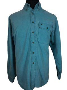 Alexander Julian COLOURS Mens XL Casual Shirt Blue Long Sleeve