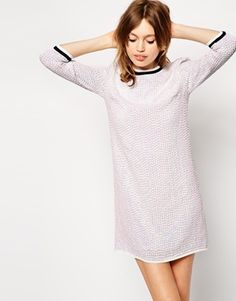 £51 ASOS+Iridescent+Sequin+Tunic+Dress+With+Rib