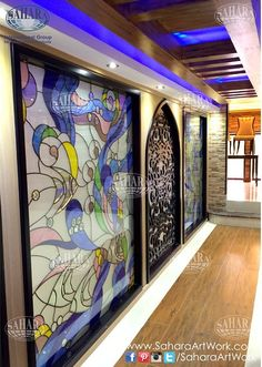 Beautiful stained glass and crystal inserts by Sahara Glass!