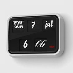 font clock designed by sebastian wrong from established   sons  995  Interiores Design 1a32c8966177