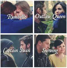 Ships of OUAT: Rumbelle, Outlaw Queen, Captain Swan, Snowing Best Tv Shows, Best Shows Ever, Favorite Tv Shows, Movies And Tv Shows, My Favorite Things, Ouat, Once Upon A Time, Emilie De Ravin, Outlaw Queen
