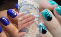 Paznokcie niebieskie. Ze wzorem czy klasyczne?