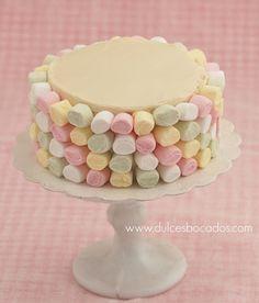 Marshmallow angel food cake