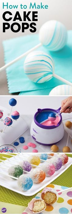 Learn how to make basic cake pops to decorate and amaze your party guests! -cake walk- Cake Pops Recipe - Homemade Cake Pops ~Lena popp~ (*-*)/ annalenapopp backen Learn how to make basic cake pops to decorate and amaze your party guests! Cakes To Make, Cake Pops How To Make, Desserts To Make, Candy Melts, Birthday Desserts, Birthday Parties, Birthday Cake, Pink Birthday, Birthday Celebration
