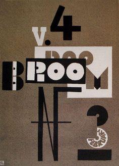 Couverture du Broom, lithographie de El Lissitzky (1890-1941, Russia)