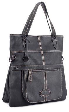 Black Deyce Purse Satchel Handbag Bag Faux Leather Vegan Fashion Tote