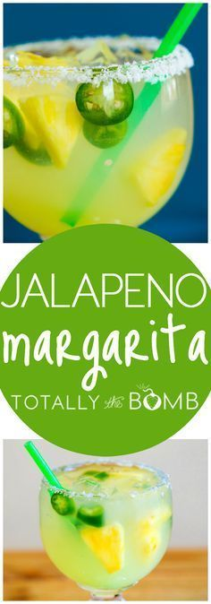 St. Patrick's Day, Texas Style – Jalapeno Margarita Jalapeno Margarita, Margarita Mix, Margarita Recipes, Cocktail Recipes, Drink Recipes, Shot Recipes, Cocktail Drinks, Party Drinks, Margaritas