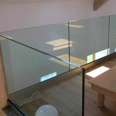 """Height (floor to handrail top): 42""""(1067mm) or customized size Thickness of glass: 10mm to 25mm tempered or laminated glass Glass types: clear Glass /Frosted Glass / Ultra Clear Glass / Green Glass / Blue Glass,etc Top handrail types: wood,stainless steel,carbon steel,PVC Material & Finish: Aluminum 6063, natural surface Application: Railing and balustrade for shopping mall, villa balcony, modern stair, airport and subway station etc. Glass Handrail, Glass Balustrade, Frosted Glass, Clear Glass, Channel Glass, Glass And Aluminium, Laminated Glass, Modern Stairs, Pvc Material"""